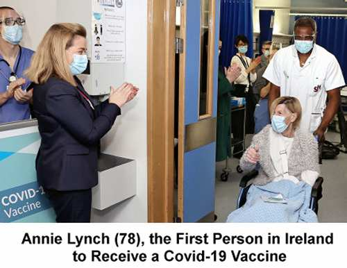 Annie Lynch (78), the First Person in Ireland to Receive a Covid-19 Vaccine