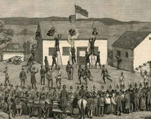 Eviction in Ireland: the Battle of Saunders Fort
