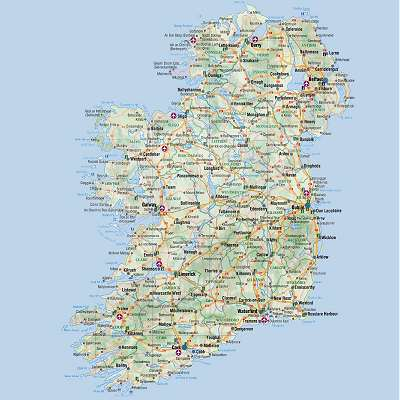 Ireland Points Of Interest Map.Most Popular Tourist Attractions In Ireland Free Paid Attractions