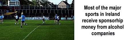 Irish sporting associations receive alcohol sponsorhip