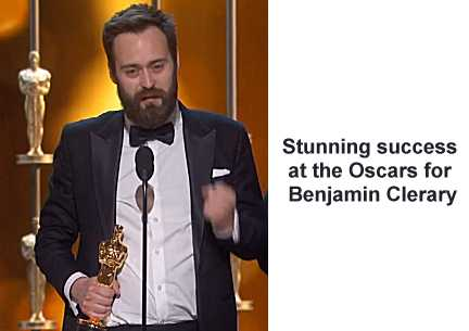 Benjamin Cleary, Irish Oscar Winner