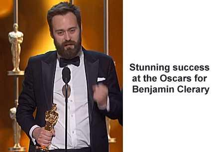 Benjamin Cleary, Irish Oscar Winner