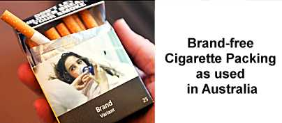 Brand-Free Cigarette Packages
