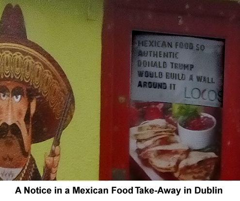 Donald Trump Sign in Dublin