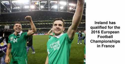 Ireland has qualified for the 2016 European Football Championships in France