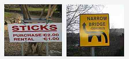 Funny Irish Sign