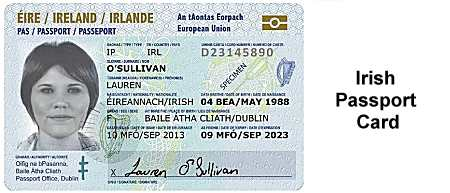 Irish Passport Card
