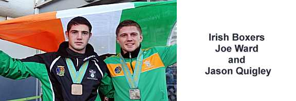 Irish Boxers Joe Ward and Jason Quigley