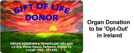 Organ Donation Card Ireland