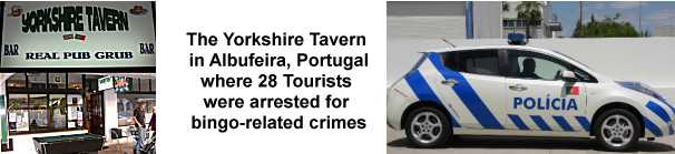 Irish Tourists were among those arrested for playing Bingo in Portugal