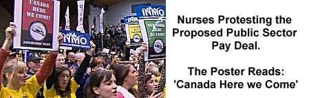 Irish Nurses proitest against Government policies