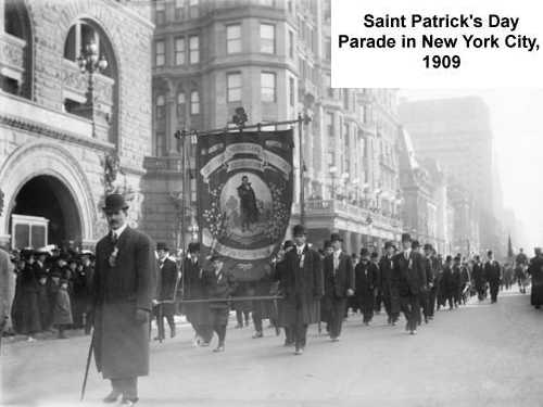 Saint Patrick's Day Parade, New York, 1909