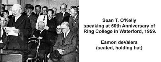 Sean T. O'Kelly speaking in Waterford in 1959