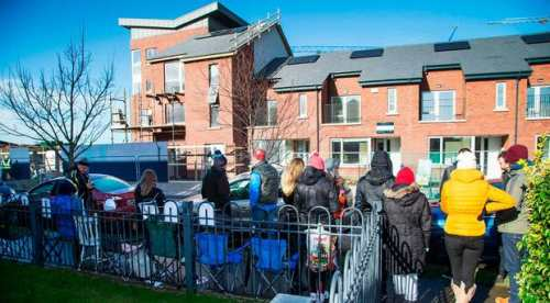 Queueing for houses in Ireland