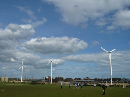 Donaghmede Wind Turbines - Public Domain Photograph