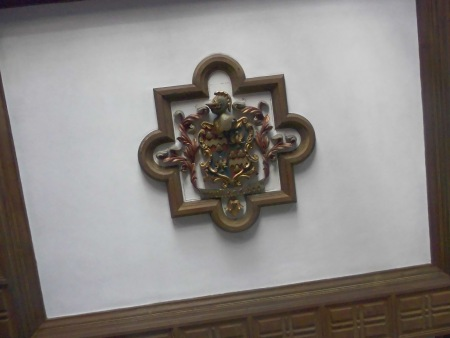 Dunne Coat of Arms in Ceiling - Public Domain Photograph