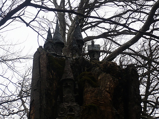 Fairy castle in trees - Public Domain Photograph, Free Stock Photo Image, Free Picture