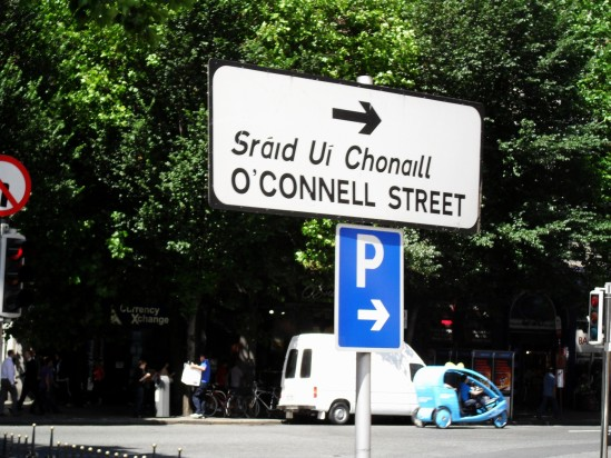O'Connell street sign - Public Domain Photograph