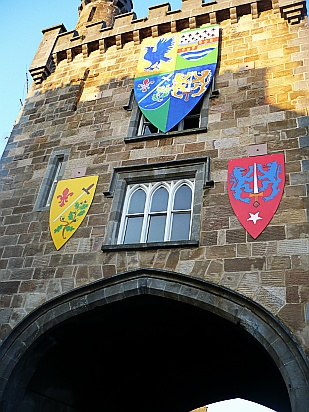 Coats of arms signs on castle - Public Domain Photograph, Free Stock Photo Image, Free Picture