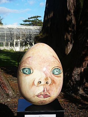Easter egg face - Public Domain Photograph, Free Stock Photo Image, Free Picture