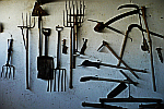 farm-tools-on-wall