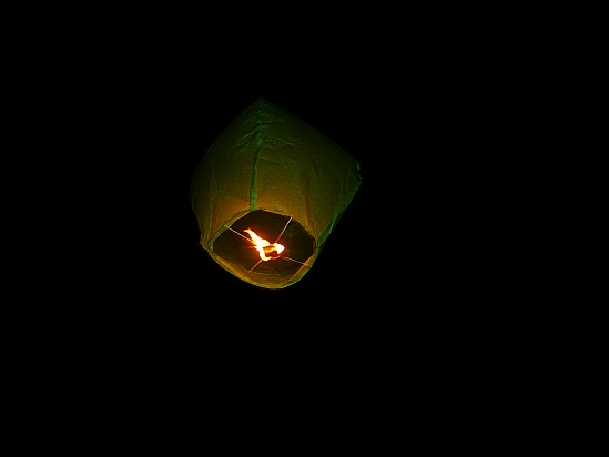 Floating kite with flame - Public Domain Photograph, Free Stock Photo Image, Free Picture