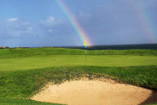 Golf double rainbow - Public Domain Photograph, Free Stock Photo Image, Free Picture