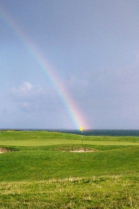 Golf rainbow - Public Domain Photograph, Free Stock Photo Image, Free Picture