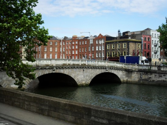 River Liffey bridge - Public Domain Photograph