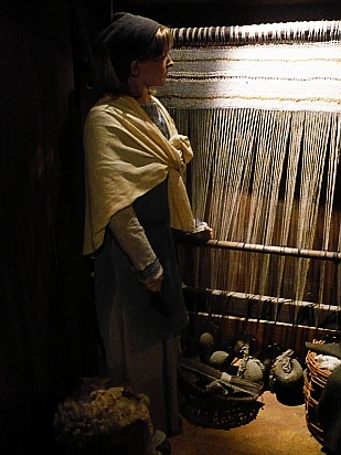 Woman weaving - Public Domain Photograph